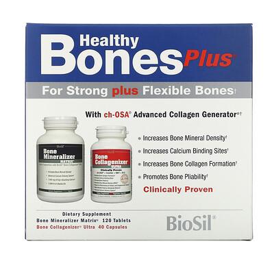 Купить BioSil by Natural Factors Healthy Bones Plus, Two-Part Program