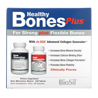 BioSil by Natural Factors, Healthy Bones Plus, Two-Part Program