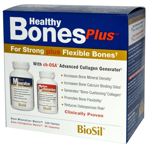 BioSil by Natural Factors, Healthy Bones Plus, Two-Part Program