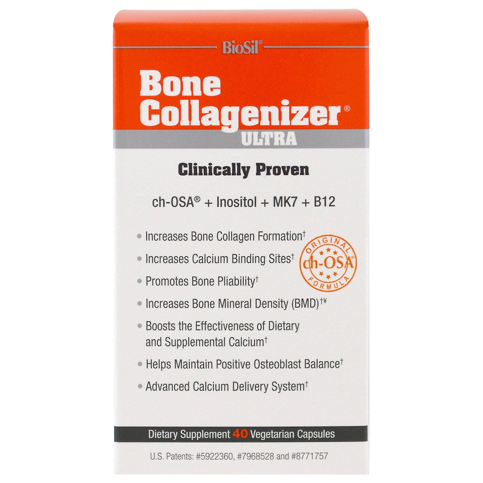 Natural Factors, BioSil, Поддержка для костей, 40 растительных капсул