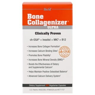 BioSil by Natural Factors, Bone Collagenizer Ultra, 40 Vegetarian Capsules