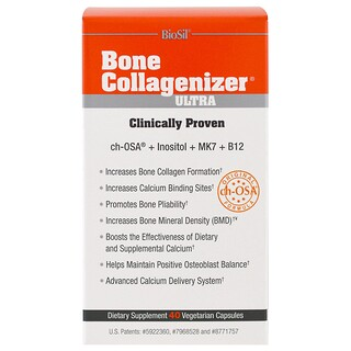 Natural Factors, BioSil, Bone Collagenizer Ultra, 40 Vegetarian Capsules