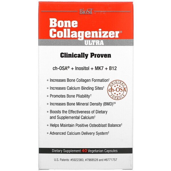 BioSil by Natural Factors, Bone Collagenizer Ultra, 40 Vegetarian Capsules
