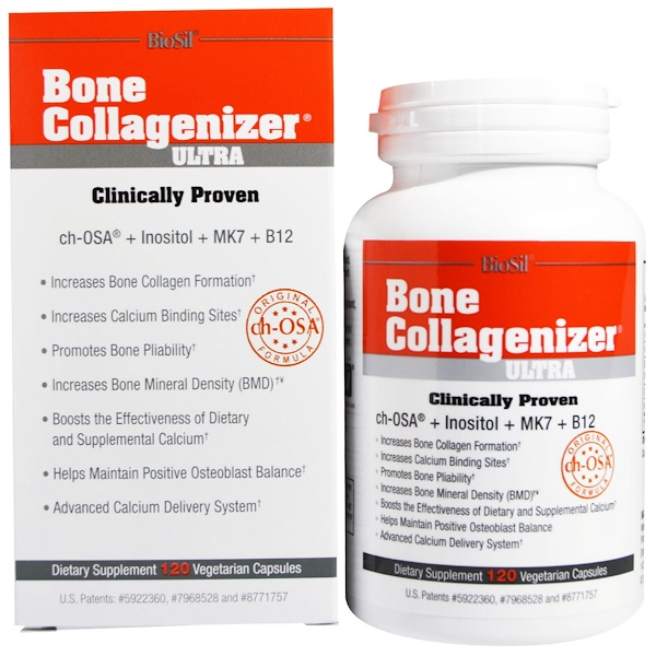 Biosil, Bone Collagenizer Ultra, 120 Vegetarian Capsules