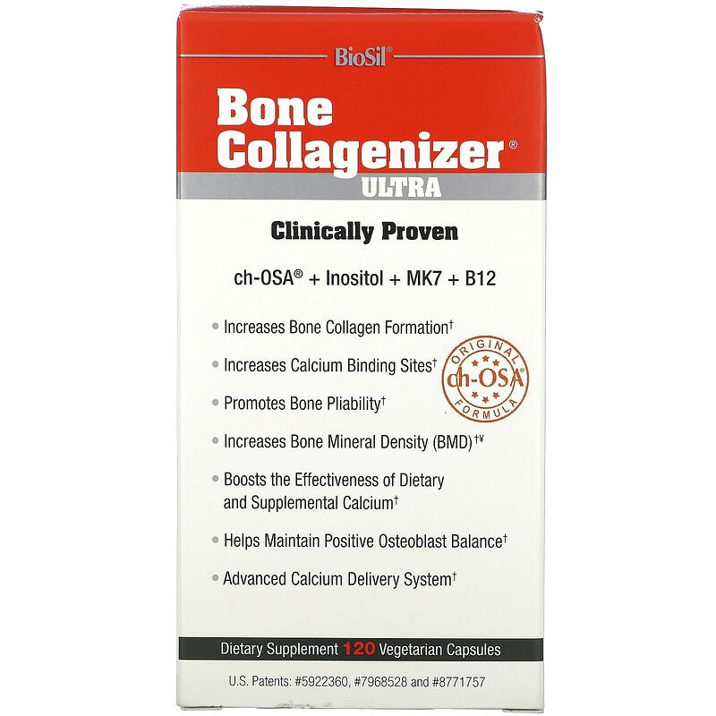 BioSil by Natural Factors, BioSil,Bone Collagenizer Ultra 骨膠原蛋白,120 粒素食膠囊