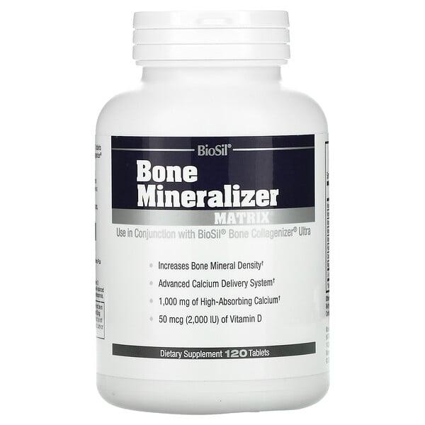 BioSil by Natural Factors, Bone Mineralizer Matrix, 120 Tablets