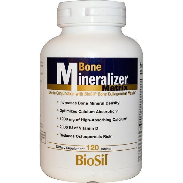 Natural Factors, BioSil, Bone Mineralizer Matrix, 120 Tablets (Discontinued Item)