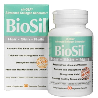 Natural Factors, BioSil, ch-OSA Advanced Collagen Generator, 30 Vegetarian Capsules
