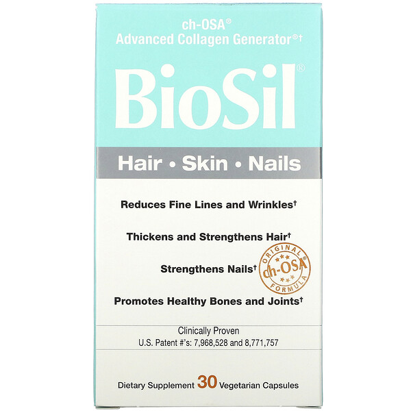 BioSil by Natural Factors, ch-OSA Advanced Collagen Generator، 30 كبسولة نباتية