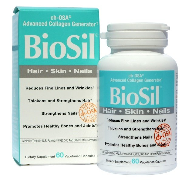 Natural Factors, BioSil, ch-OSA Advanced Collagen Generator, 60 Vegetarian Capsules