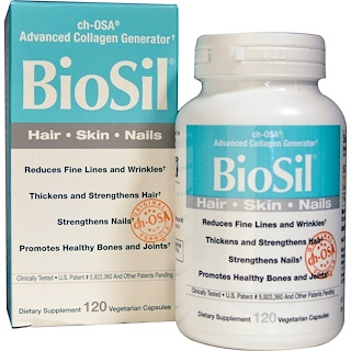 Natural Factors, BioSil, ch-OSA Advanced Collagen Generator، 120 كبسولة نباتية