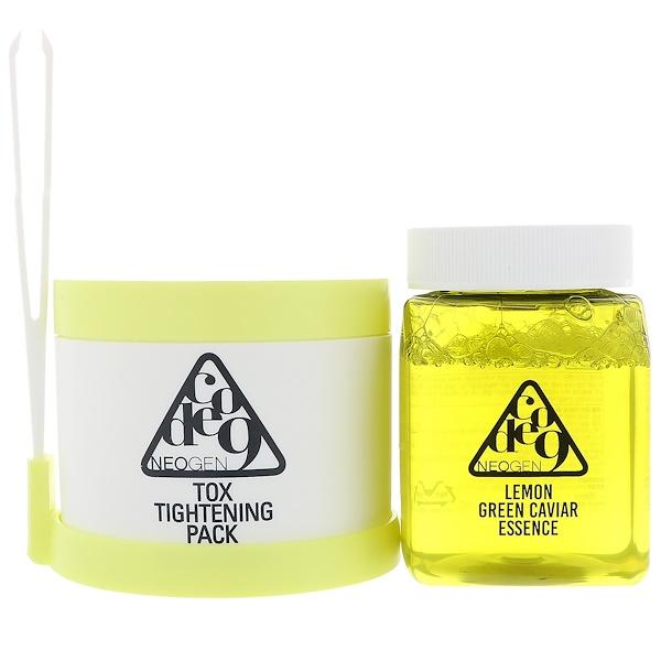 Neogen, Code 9, Lemon Green Caviar Essence & Tox Tightening Pack Kit, 1 Kit