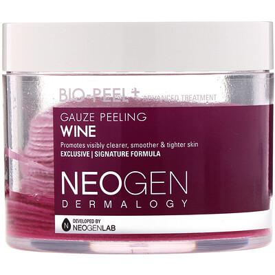 Купить Neogen Био-Пилинг, Марлевый Пилинг, Вино, 30 Комплектов, 6, 76 жидких унций (200 мл)