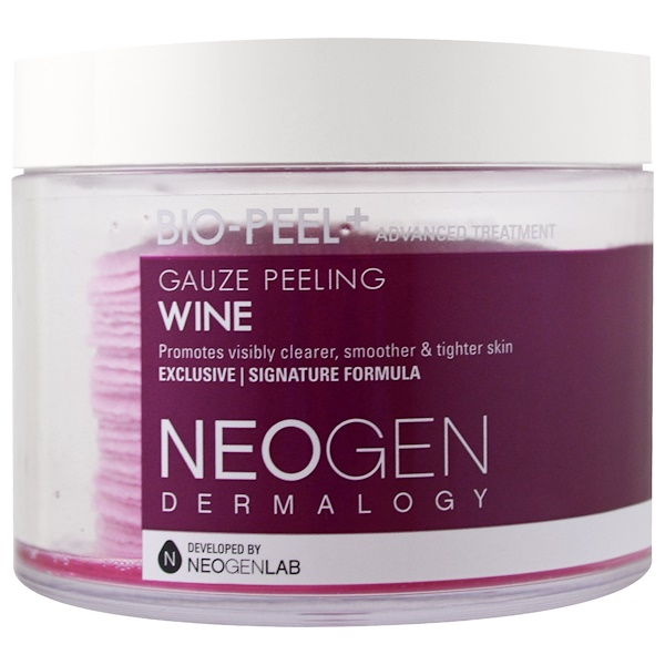 Neogen, Bio-Peel, Peeling de Gasa, Vino, 30 almohadillas, 6.76 fl oz (200 ml)
