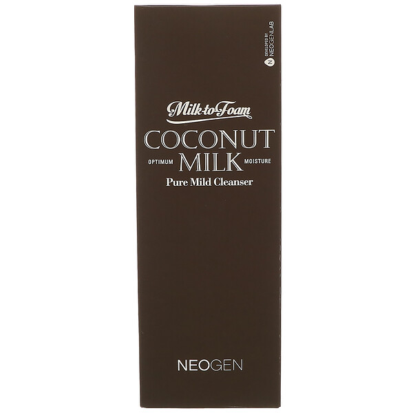 Neogen, Milk to Foam Coconut Milk, Pure Mild Cleanser, 9.9 fl oz (300 ml)