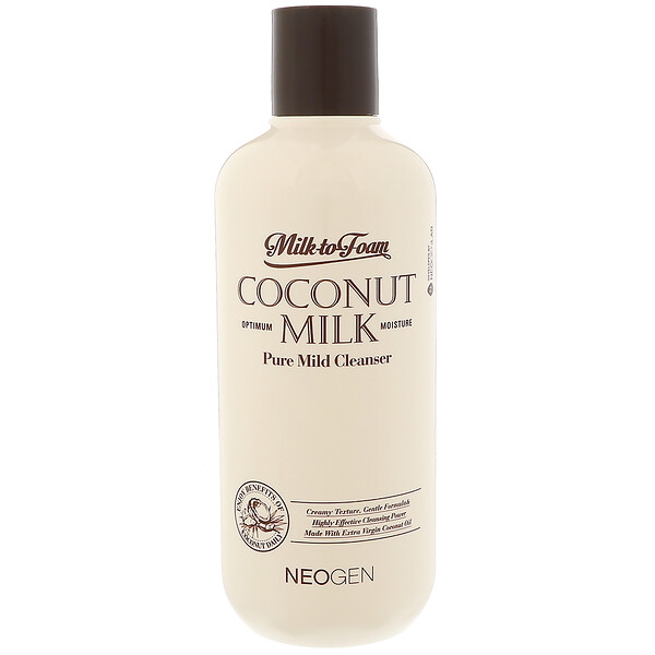 Neogen, Milk to Foam Coconut Milk, Pure Mild Cleanser, 9.9 fl oz (300 ml) (Discontinued Item)