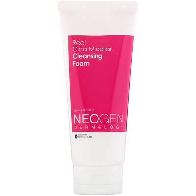 Купить Neogen Real Cica Micellar Cleansing Foam, 6.76 fl oz (200 ml)
