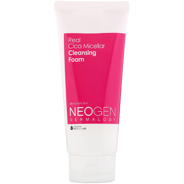 Neogen, Real Cica Micellar Cleansing Foam, 6.76 fl oz (200 ml)