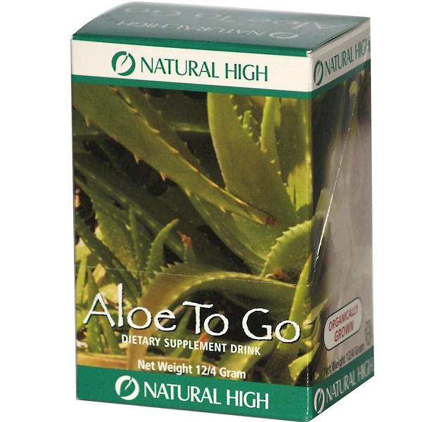 Natural High, Aloe To Go, 12 Packets, 4 g Each (Discontinued Item)