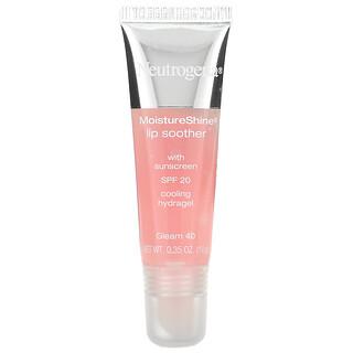 Neutrogena, MoistureShine Lip Soother, SPF 20, Gleam 40, 0.35 oz (10 g)
