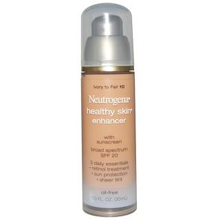 Neutrogena, Healthy Skin Enhancer, SPF 20, Ivory To Fair 10, 1.0 fl oz (30 ml)