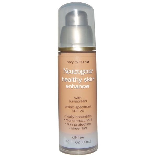 Neutrogena, Healthy Skin Enhancer, Broad Spectrum SPF 20, Ivory To Fair 10, 1.0 fl oz (30 ml) (Discontinued Item)