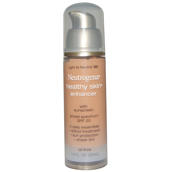 Neutrogena, Healthy Skin Enhancer, Broad Spectrum SPF 20, Light to Neutral 30, 1.0 fl oz (30 ml) (Discontinued Item)