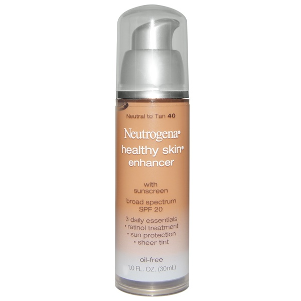 Neutrogena, Healthy Skin Enhancer, Broad Spectrum SPF 20, Neutral to Tan 40, 1.0 fl oz (30 ml) (Discontinued Item)