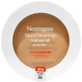 Neutrogena, SkinClearing Mineral Powder, Natural Ivory 20, 0.38 oz (11 g)