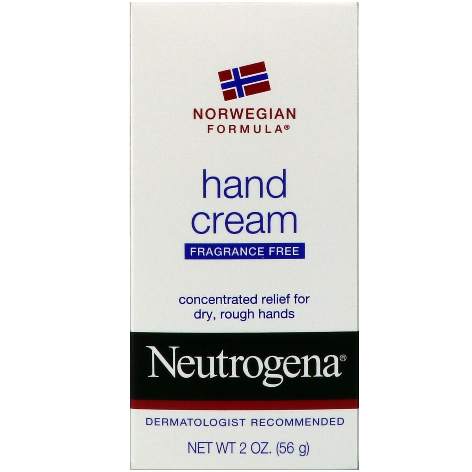 Neutrogena, Крем для рук, Без запаха, 2 унции (56 г)