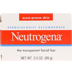 Neutrogena, 透明潔面皂,易長粉刺皮膚,3.5 盎司(99 克)