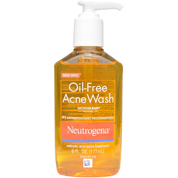 Neutrogena, Oil-Free Acne Wash, 6 fl oz (177 ml) (Discontinued Item)