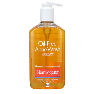 Neutrogena, Sabonete Líquido para Acne sem Óleo, 269 ml (9,1 fl oz)
