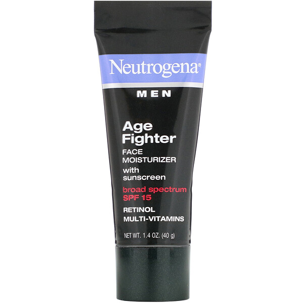 Men, Age Fighter Face Moisturizer with Sunscreen, SPF 15, 1.4 oz (40 g)