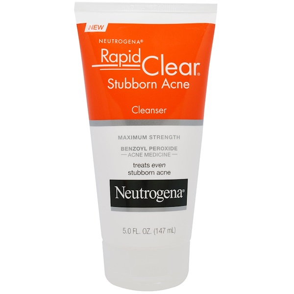 Rapid Clear, Stubborn Acne Cleanser, Maximum Strength, 5.0 fl oz (147 ml)