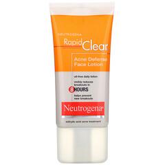 Neutrogena, Rapid Clear, Acne Defense Face Lotion, 1.7 fl oz (50 ml)