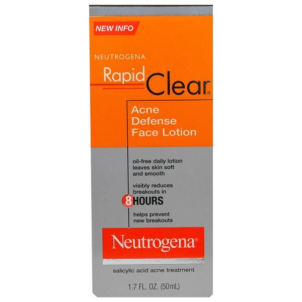 Neutrogena, Aclarado rápido, Loción facial para el acné, 1,7 fl. Oz (50 ml)