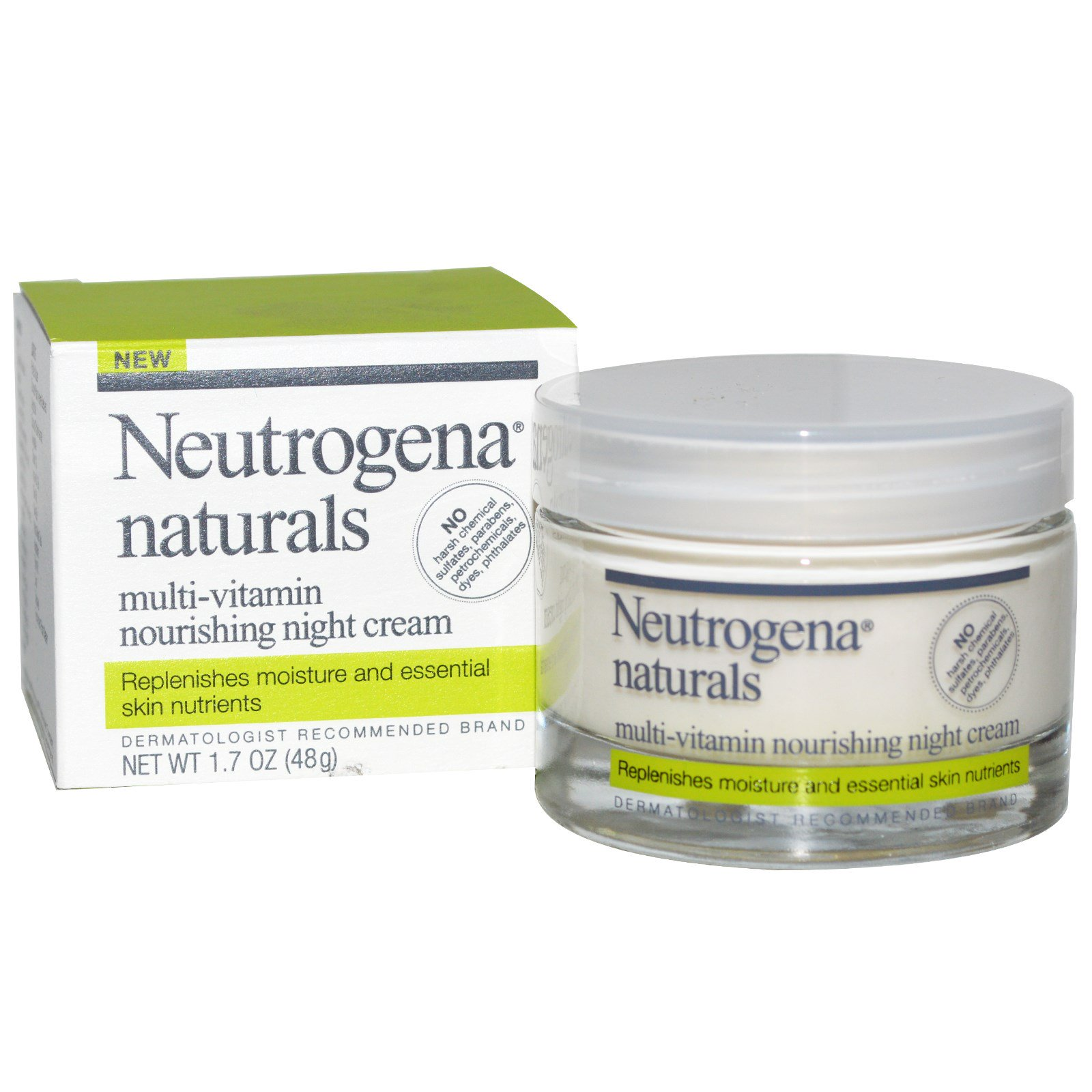 5 Pack - Neutrogena Naturals Nourishing Night Cream 1.7oz Each Clarins Double Serum Complete Age Control Concentrate, 1.6 Oz