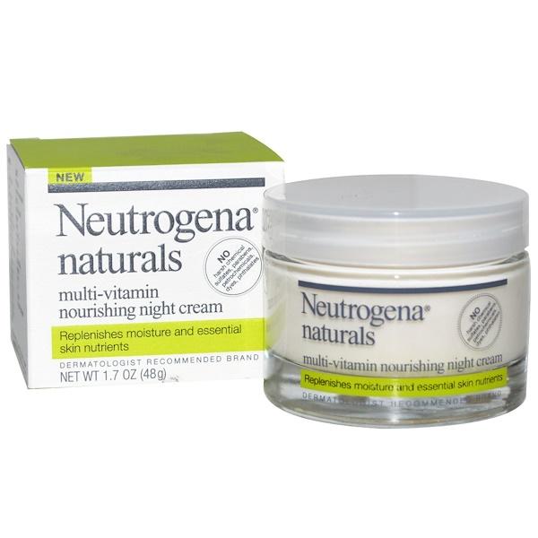 Neutrogena, Neutrogena, Naturals, Multi-Vitamin Nourishing Night Cream, 1.7 oz (48 g) (Discontinued Item)