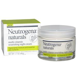 НьютроДжина, Neutrogena, Naturals, Multi-Vitamin Nourishing Night Cream, 1.7 oz (48 g) отзывы покупателей