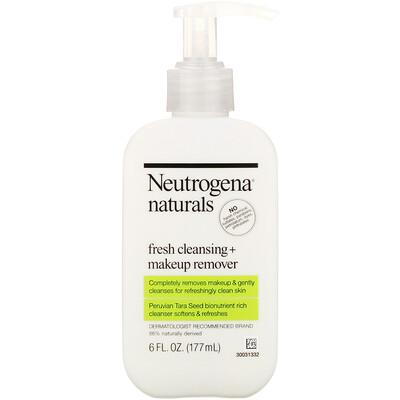 Neutrogena, Naturals, свежесть и очистка + средство для снятия макияжа, 177 мл (6 жидких унций)