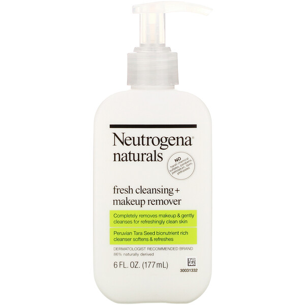 Neutrogena, Naturals, Fresh Cleansing + Makeup Remover, 6 fl oz (177 ml)