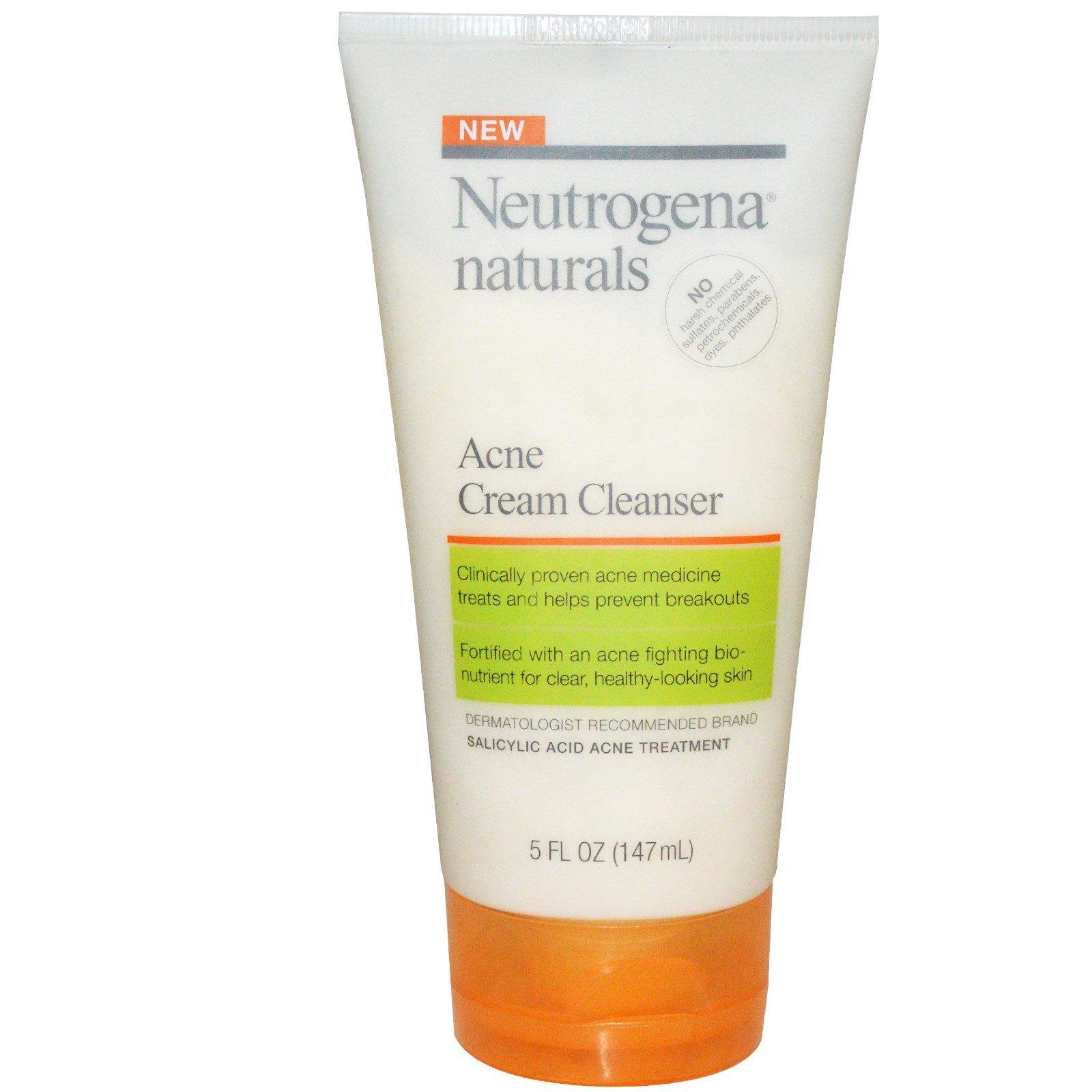 Neutrogena, Очищающий крем от акне, 147 мл (5 жидких унций)