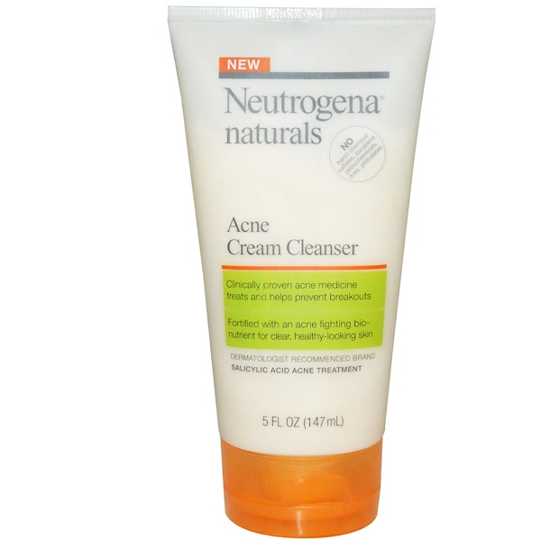Neutrogena, Acne Cream Cleanser, 5 fl oz (147 ml) (Discontinued Item)
