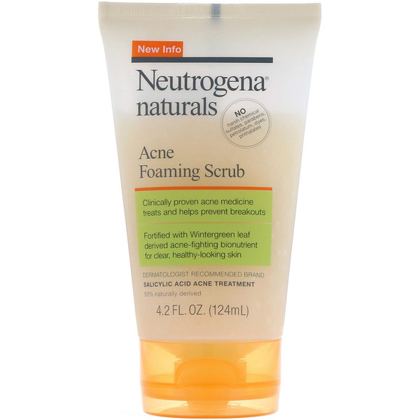 Neutrogena, Naturals, Acne Foaming Scrub, 4.2 fl oz (124 ml)