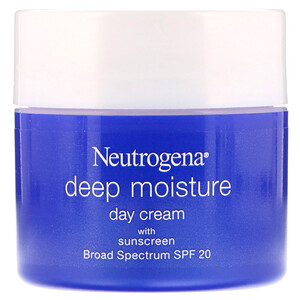 НьютроДжина, Deep Moisture, Day Cream with Sunscreen, Broad Spectrum SPF 20, 2.25 oz (63 g) отзывы покупателей