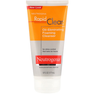 Neutrogena, Rapid Clear, Oil-Eliminating Foaming Cleanser, 6 fl oz (177 ml)