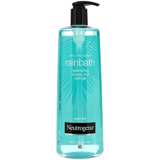 Neutrogena, Rainbath, Replenishing Shower and Bath Gel, Ocean Mist, 16 fl oz (473 ml)