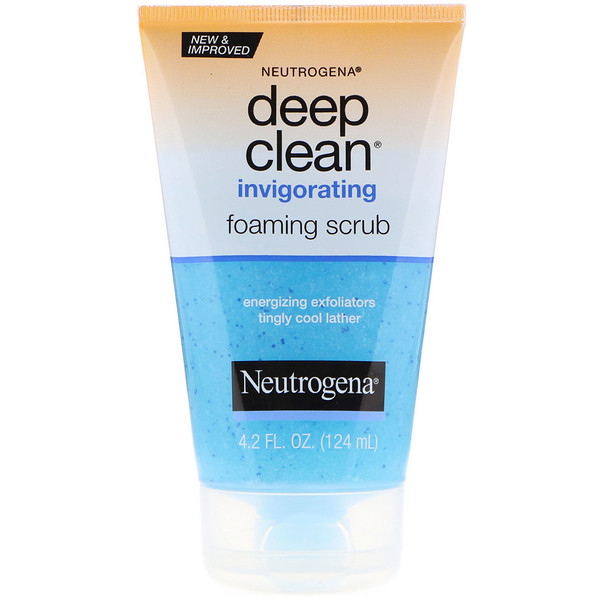 Neutrogena, Deep Clean, Invigorating, Foaming Scrub, 4.2 fl oz (124 ml)