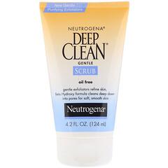 Neutrogena, 深層清潔,溫和磨砂膏,無油,4.2液體盎司(124毫升)